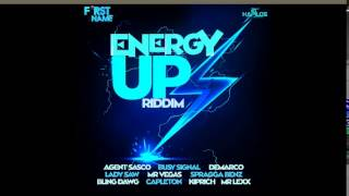 ENERGY UP RIDDIM MIXX BY DJ-M.o.M BUSY SIGNAL, DEMARCO, AGENT SASCO And More