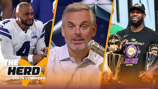 Colin reacts to LeBron James & Lakers' NBA Title win, talks Dak Prescott's ankle injury | THE HERD