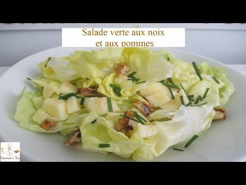 Salade simple aux noix et aux pommes