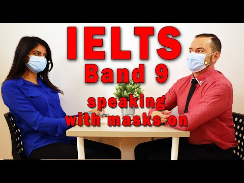 IELTS Speaking Band 9 with Face Mask and Strategy - YouTube