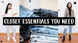 ALL THE CLOSET ESSENTIALS YOU NEED!