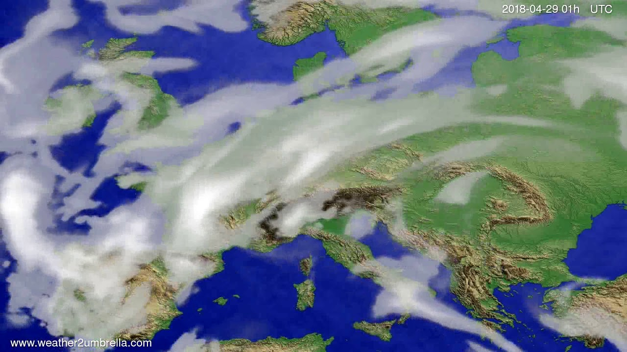 Cloud forecast Europe 2018-04-26