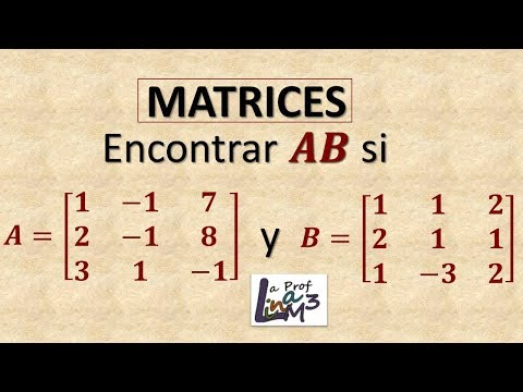 Multiplicación de dos matrices de 3x3   La Prof Lina M3