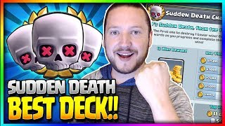 """NEW """"SUDDEN DEATH"""" CHALLENGE!! - BEST 12 WIN DECK!! 12-0 Undefeated! - Clash Royale"""