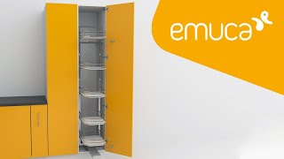 How to install the Supra pull-out column in a hinged kitchen unit