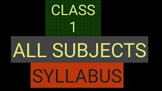 #Study time/Class 1 Syllabus all subjects/grade 1/Maths/EVS/Hindi/English/kv/ncert/cbse