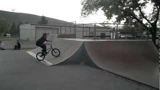 5-18-12 Pocatello Skatepark Bike jump then crash