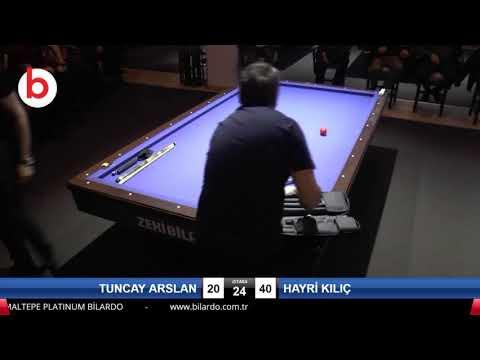TUNCAY ARSLAN & HAYRİ KILIÇ Bilardo Maçı - PLATINUM BİLARDO TAKINI CUP 2019-SON 16