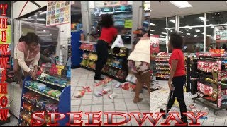 Two Women Destroy a Speedway Gas Station