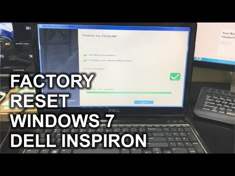 How To ║ Restore Reset A Dell Inspiron To Factory Settings ║ Windows 7 Mp3