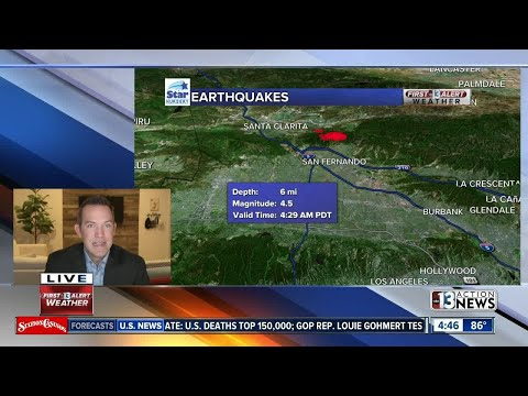 early morning earthquake breaking news
