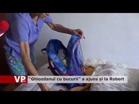 """""""Ghiozdanul cu bucurii"""" a ajuns și la Robert"""