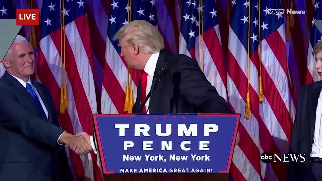 Необычные рукопожатия Дональда Трампа