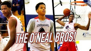 Shareef O'Neal SUPER SLAMS + Younger Bro Shaqir FIRST BUCKET IN HIGH SCHOOL!