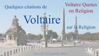 French-English Bilingual Voltaire Quotes On Religion