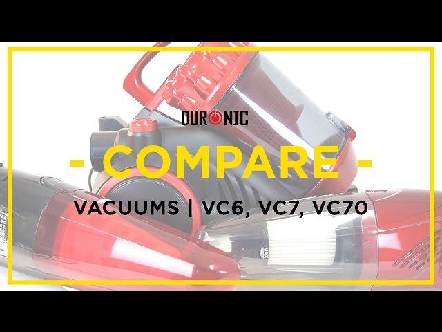 Duronic Vacuum Cleaner Range | Duronic VC6, VC7 & VC70