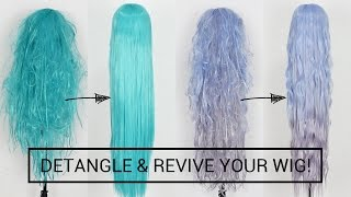 Detangle And Revive Cosplay Wigs Like A PRO + PREVENT TANGLES WHEN WEARING!