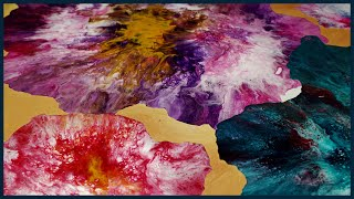 Abstract Acrylic Painting | New Combination Technique | Flower