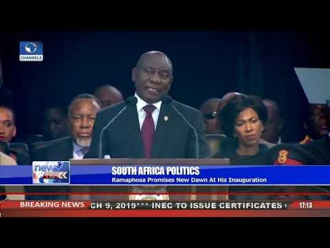Ramaphosa Promises 'New Dawn' At His Inauguration