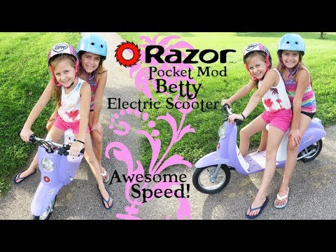 Super Speed on the Razor Pocket Mod Betty Electric Scooter!