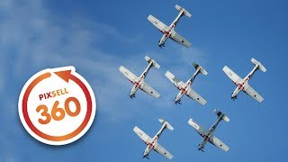 360 VIDEO: Exclusive and Amazing Flight of Air Force Aerobatic Display Team The Wings of Storm