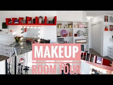 MAKEUP/BEAUTY ROOM TOUR || Youtube Filming Set Up