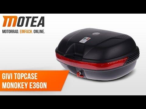 Motorrad Topcase Givi E360N Monokey Koffer 40 Liter schwarz
