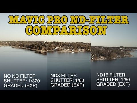 TESTING ND-FILTERS FOR MAVIC PRO!