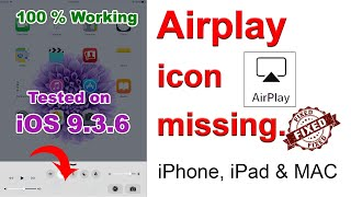 FIX - Airplay icon missing on iPhone, iPad & Mac | Enable Airplay | Can't find airplay on menu bar