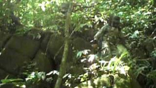 preview picture of video 'Accident in the jungle (almost a fatal fall) , no security ropes....'