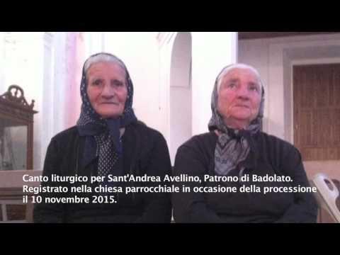 Canto per Sant'Andrea protettore di Badolato