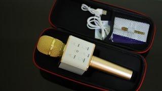 ميكروفون Q7 بلوتوث ذهبي | فتح صندوق | Microphone Q7
