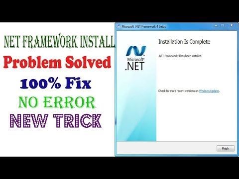 How to install Net Framework 4 on windows 7 ।| fix net framework v4.0.30319 error problem solve