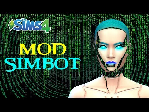 The Sims 4: Robots and Hybrids Mod // Update!! - смотреть