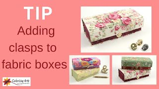 Cartonnage Fabric Box DIY Kit_how To Add A Metal Clasp To Your Box