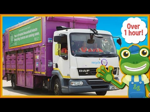 Garbage Trucks For Kids and MORE Big Trucks | Gecko's Real Vehicles