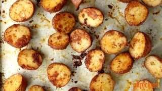 How to Make Oven Roasted Parmesan Potatoes   Potato Recipes   Allrecipes.com