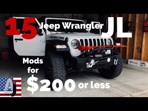 15 Jeep Wrangler JL Mods for $200 or less