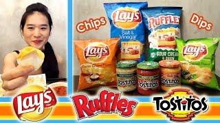 CHIPS & DIPS | Crunchy Eating Sounds | Mukbang | Eating Show