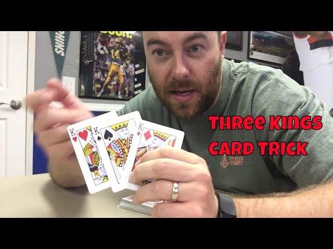 Simple Beginner Level Card Trick: Three Kings