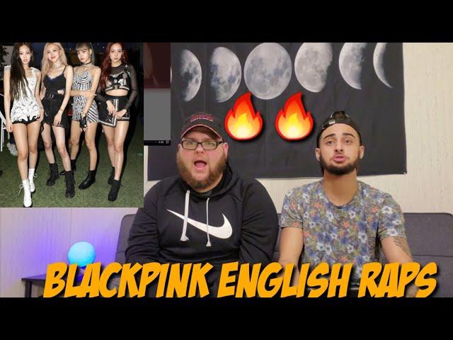 BLACKPINK Lisa & Jennie English Rap Parts (2019 Update)   (REACTION)