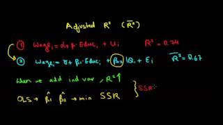 STATISTICS I Intuition Of The Adjusted R Squared I Example I Part 1