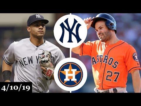 New York Yankees vs Houston Astros Highlights | April 10, 2019