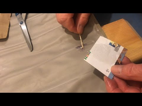 REPAIRING hole in vinyl air mattress using 5 minute epoxy