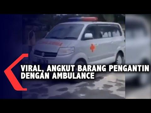 viral angkut barang pengantin dengan ambulance