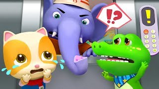 The Elevator is Broken | Elephant Firefighter | Nursery Rhymes | Spanish Kids Songs | BabyBus