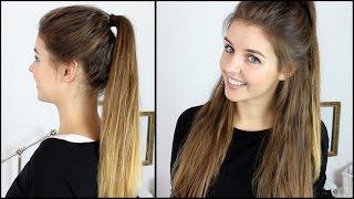 Hoher Zopf + Halboffene Frisur mit Extensions   Frisuren Freitag   Lovethecosmetics