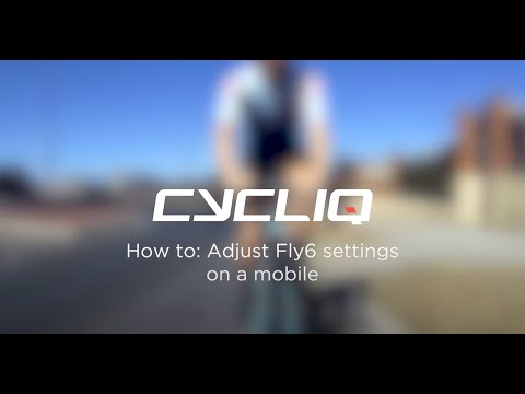 How to adjust Fly6 settings on a mobile