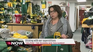Superstitious Packers fans come out of the closet