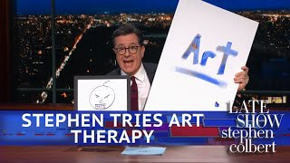 Stephen Colbert Goes To Art Therapy